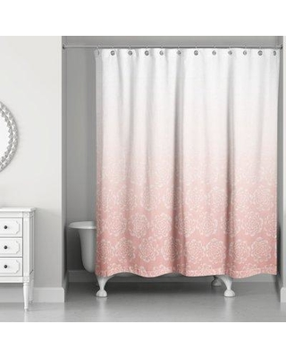 House of Hampton Burchell Ombre Floral Single Shower Curtain W000284120