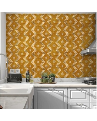 """Dacula Village 16' L x 24 """" W Smooth Peel and Stick Wallpaper Roll"""