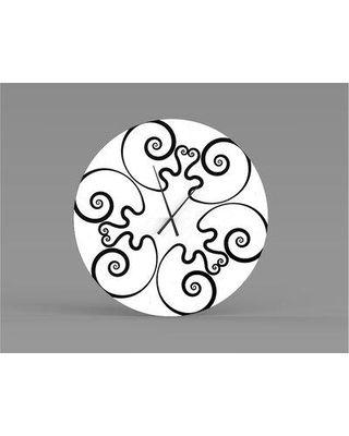 East Urban Home Oversized Essential Acquainted Metal Wall Clock W000329940 Size: Large
