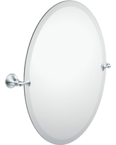 Moen Glenshire 26 in. x 22 in. Frameless Pivoting Wall Mirror in Chrome (Grey)