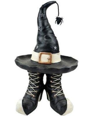 The Holiday Aisle The Holiday Aisle Witch Hat And Boots Decor Figurine Bf213818 From Wayfair Bhg Com Shop