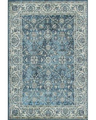 Bungalow Rose Jannie Blue Area Rug W001110851 Rug Size: Rectangle 5' x 7'