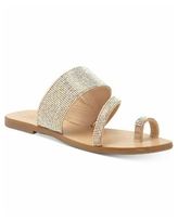 INC Gianolo Embellished Toe-Ring Flat Sandals, Created for Macy's - Ab Crystal