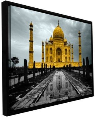 ArtWall 'Taj Mahal' by Revolver Ocelot Framed Photographic Print on Wrapped Canvas, Canvas & Fabric in Brown/Gray/Black | Wayfair 0oce023a1218f