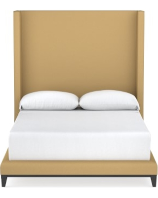Presidio XTall Bed, King, Faux Suede, Camel
