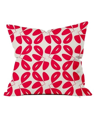 Leaves Floral Throw Pillow