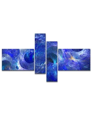 East Urban Home 'Clear Blue Fractal Glass Texture' Graphic Art Print Multi-Piece Image on Canvas FVIH9228