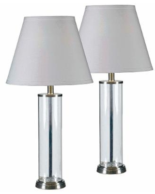 Kenroy Home Echo Glass Table Lamp Set of 2