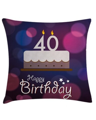"""40th Birthday Indoor / Outdoor 36"""" Throw Pillow Cover East Urban Home"""