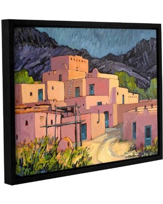 """ArtWall Taos Pueblo by Rick Kersten Framed Painting Print on Wrapped Canvas 0ker016a Size: 8"""" H x 10"""" W"""