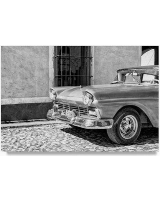 "Trademark Art 'American Classic Car in Trinidad V' Photographic Print on Canvas PH00869-C Size: 22"" H x 32"" W"