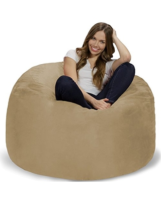 Great Sales On Chill Sack Bean Bag Chair Giant 4 Memory Foam Furniture Bean Bag Big Sofa With Soft Micro Fiber Cover Camel