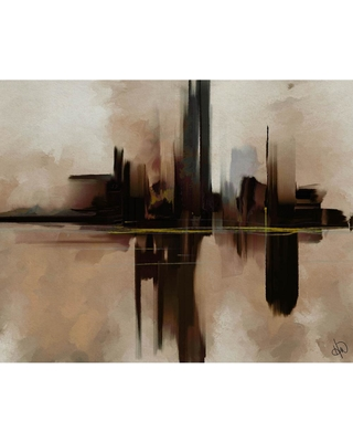 Creative Gallery 11 in. x 14 in. Alone In The Dark Zeta Abstract Wrapped Canvas Wall Art Print, .N/A