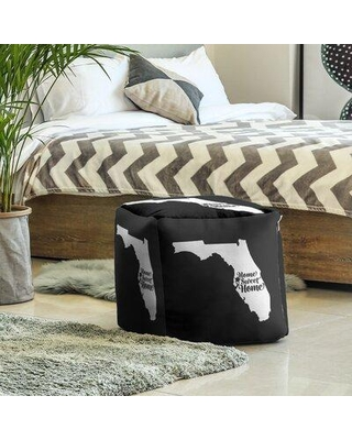 East Urban Home Home Sweet Tampa Cube Ottoman EBJC3462 Upholstery Color: Black