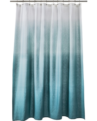 Ombre Shower Curtain Teal - Threshold