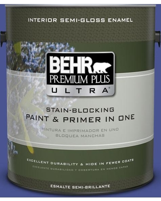 BEHR Premium Plus Ultra 1 gal. #P540-7 Canyon Iris Semi-Gloss Enamel Interior Paint and Primer in One