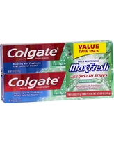 Colgate Max Fresh Clean Mint Toothpaste 6ozTwin Pack