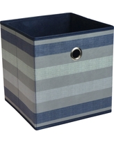 Fabric Cube Storage Bin 11 - Navy Stripe Pattern - Room Essentials