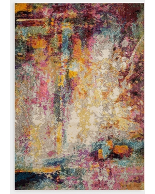 Multicolor Abstract Nadine Area Rug - Polypropylene - 5' x 8' by World Market