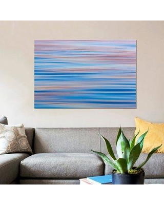 """East Urban Home 'Abstract Water Ripples At Sunset Alaska USA' Graphic Art Print on Canvas VCIN9316 Size: 12"""" H x 18"""" W x 0.75"""" D"""
