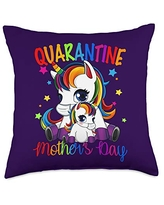 Unicorn - Mother's Day Cute Mom and Child Unicorn Throw Pillow, 18x18, Multicolor