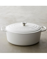 Le Creuset Signature Cast-Iron Oval Dutch Oven, 9 1/2-Qt., Matte White