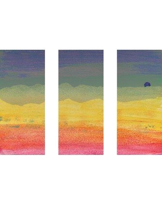 "Marmont Hill 'Desert Sun Triptych' Painting Print on Wrapped Canvas MHTRY-61-C Size: 30"" H x 45"" W"