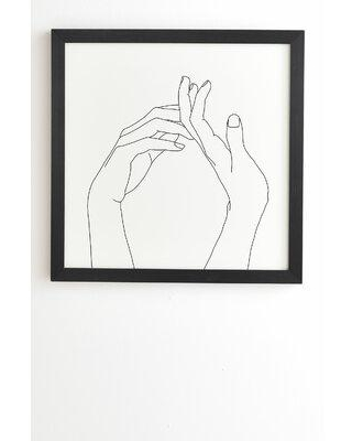 East Urban Home 'The Color Study Hands Line Drawing Abi' Framed Print X112508375