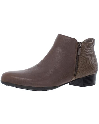 Trotters Women's Major Ankle Boot, Dark Taupe, 9.5 M