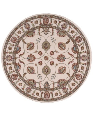 Baranof Oriental Ivory Area Rug Charlton Home® Rug Size: Round 7'10""