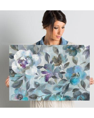 """Ophelia & Co. Twilight Flowers Crop Painting Print on Wrapped Canvas OPCO3219 Size: 16"""" H x 24"""" W x 2"""" D"""