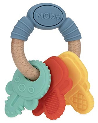 Designs Vary 3M+ Luv N Care//NUBY Nuby 100/% Silicone Fruit Teether Multi