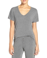 Women's Pj Salvage Short Sleeve Tee, Size Medium - Grey