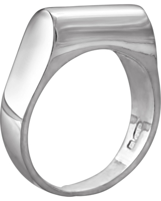 Edge Only - High Top Ring Silver