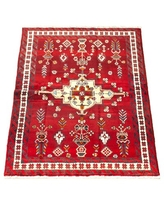 Don T Miss These Deals On Antonim Hand Knotted Wool Dark Red Ivory Rug Bloomsbury Market