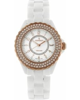 Peugeot Ceramic Crystal Watch - PS4880WRG, Women's, White