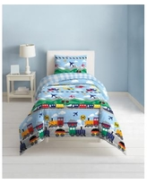Dream Factory Trains And Planes 3-Piece Full/Queen Comforter Set - Blue