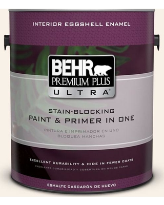 BEHR ULTRA 1 gal. #RD-W05 Moonlit Beach Eggshell Enamel Interior Paint and Primer in One