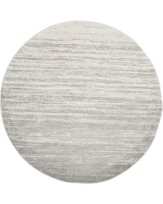 9' Ombre Design Round Area Rug Ivory/Silver - Safavieh