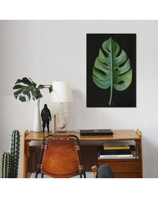 "East Urban Home 'Midnight Philodendron' Oil Painting Print on Wrapped Canvas ESUH7645 Size: 18"" H x 12"" W x 1.5"" D"