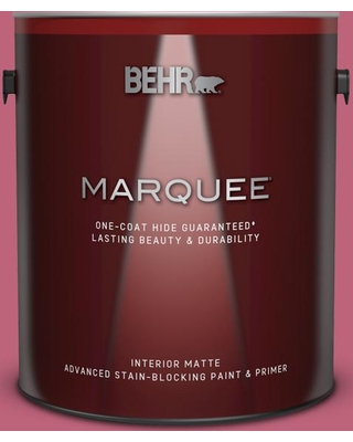 BEHR MARQUEE 1 gal. #120D-4 Mulberry Matte Interior Paint and Primer in One, Pink