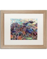 "Trademark Art 'The Liberation of Ortona' Framed Graphic Art Print ALI5634-T1 Matte Color: White Size: 16"" H x 20"" W x 0.5"" D"