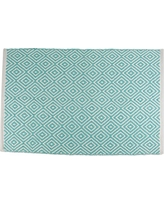 DII Home Essentials Area Rug for Kitchen, Livingroom, Entry Way, Laundry Room, Dorm Room, and Bedroom 2 x 3-Feet, Aqua Diamond
