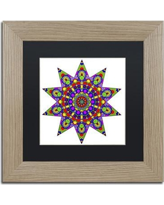 """Trademark Art 'Being Silly Mandala Colored' Framed Graphic Art on Canvas ALI3350-T1111BMF / ALI3350-T1616BMF Size: 11"""" H x 11"""" W x 0.5"""" D Matte Color: Black"""