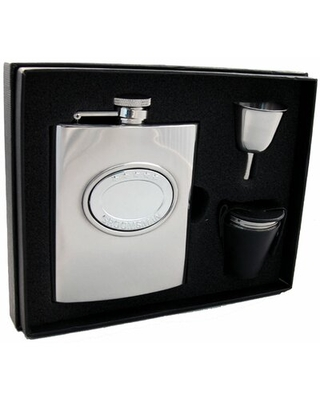 5 Star Groomsman Deluxe Flask Gift Set Visol Products