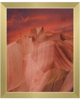 "Click Wall Art 'Sunset Ascent' Framed Painting Print RAN0000120FRM Format: Gold Framed Size: 26.5"" H x 22.5"" W"