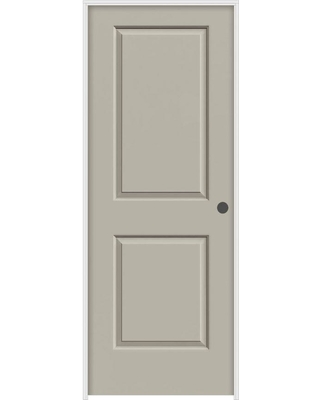 JELD-WEN 28 in. x 80 in. Cambridge Desert Sand Painted Left-Hand Smooth Molded Composite MDF Single Prehung Interior Door