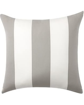 "Sunbrella(R) Awning Stripe Indoor/Outdoor Pillow, 24"", Gray"