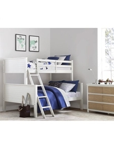 Your Zone Wooden Convertible Twin-Over-Full Bunk Bed, White