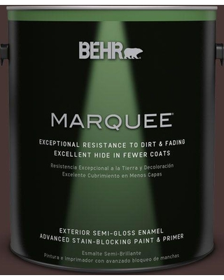 BEHR MARQUEE 1 gal. #ecc-43-3 Chaparral Semi-Gloss Enamel Exterior Paint and Primer in One